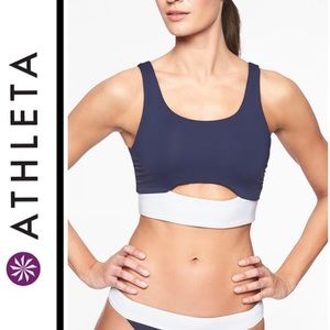 ATHLETA Mod Block Reversible Scoop Bikini Top
